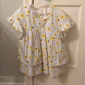 Sunflower seersucker shirt